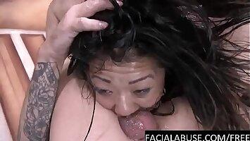 Deep Rough BJ for cute petite Asian