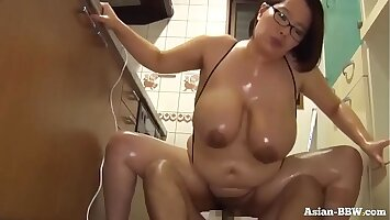 Fat Asian BBW Fucked in Kitchenette - more at Asian-BBW.com