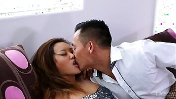 Asian Teen Alina Li Gets Her Pussy Drilled